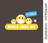 world emoji day greeting card... | Shutterstock .eps vector #1929026264