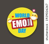 world emoji day greeting card... | Shutterstock .eps vector #1929026267