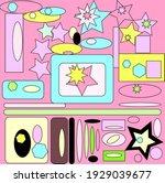 ellipse and stars seamless...   Shutterstock . vector #1929039677