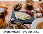 Spanish Foods On A Bar Table...