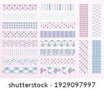 cute pastel color geometric...   Shutterstock .eps vector #1929097997