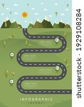 road with markers  vector...   Shutterstock .eps vector #1929108284