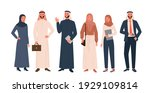 arab people vector illustration ... | Shutterstock .eps vector #1929109814