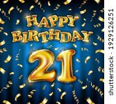 21 happy birthday message made...   Shutterstock .eps vector #1929126251