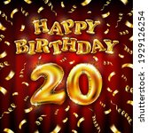 20 happy birthday message made...   Shutterstock .eps vector #1929126254