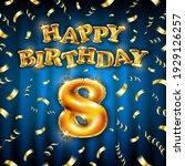 8 happy birthday message made...   Shutterstock .eps vector #1929126257