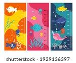 kids height chart. vector... | Shutterstock .eps vector #1929136397