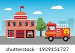 fire station building...   Shutterstock .eps vector #1929151727