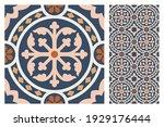 set of patterned azulejo floor... | Shutterstock .eps vector #1929176444