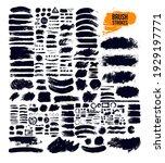 black paint  ink brush strokes  ... | Shutterstock .eps vector #1929197771
