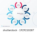 vector round circle infographic ... | Shutterstock .eps vector #1929210287