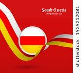 artistic wavy flag for south...   Shutterstock .eps vector #1929212081