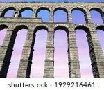 Sunset At Aqueduct Of Segovia...