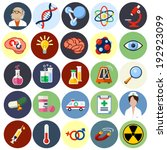 vector science flat icons  ... | Shutterstock .eps vector #192923099