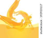 fresh orange juice | Shutterstock .eps vector #192923117