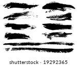 watercolor grunge brush strokes ... | Shutterstock .eps vector #19292365