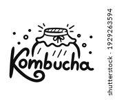 kombucha quote with jar logo....   Shutterstock .eps vector #1929263594