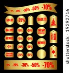 vector set of tags   Shutterstock .eps vector #19292716