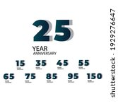 anniversary year set vector...   Shutterstock .eps vector #1929276647