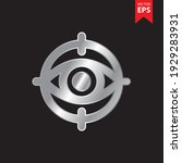 eye and target icon in trendy...