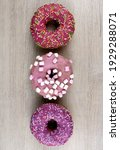 Vertical Photo Of Round Donuts...