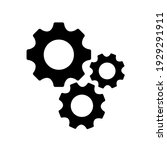gears icon flat vector....