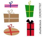 set of gift box logos icons   Shutterstock .eps vector #1929297707