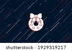 large white christmas wreath...   Shutterstock .eps vector #1929319217