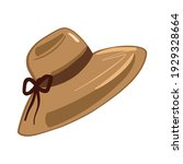 women's hat  sun shield  beach...   Shutterstock .eps vector #1929328664