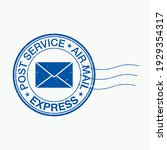 Distressed Postal Stamp Vector...
