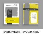 minimalistic art. cover design. ... | Shutterstock .eps vector #1929356807