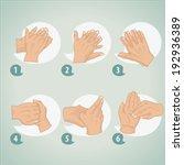 hand washing procedure | Shutterstock .eps vector #192936389