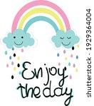 colorfully rainbow illustration.... | Shutterstock .eps vector #1929364004