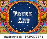 beautiful truck art template...   Shutterstock .eps vector #1929373871