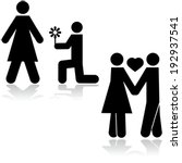 black,boy,boyfriend,concept,figure,flirt,flower,girl,girlfriend,give,graphic,green,heart,hold,hug