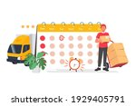 date of delivery vector. filled ... | Shutterstock .eps vector #1929405791