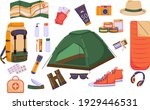 travel set of colorful images... | Shutterstock .eps vector #1929446531
