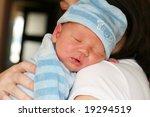 newborn baby sleeping on her... | Shutterstock . vector #19294519