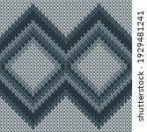 cotton rhombus argyle knitting... | Shutterstock .eps vector #1929481241
