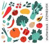 vegetable collection  food... | Shutterstock .eps vector #1929481454