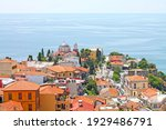 View of Kavala city with  Aegean Sea, Northern Greece.