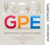 gpe mean  gravitational...   Shutterstock .eps vector #1929518891