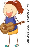 a doodle kid playing a acoustic ...   Shutterstock .eps vector #1929530474
