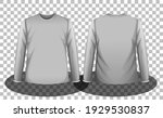 front and back of grey long...   Shutterstock .eps vector #1929530837