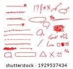 draw arrows and lines with...   Shutterstock .eps vector #1929537434