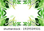nature flowers and leaves... | Shutterstock .eps vector #1929539531