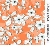 flower pattern design textile... | Shutterstock .eps vector #1929540494