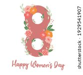international women's day... | Shutterstock .eps vector #1929541907