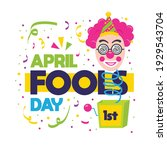 april fools day card with white ...   Shutterstock .eps vector #1929543704