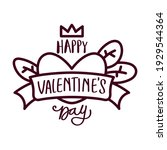 happy valentines day card.... | Shutterstock .eps vector #1929544364